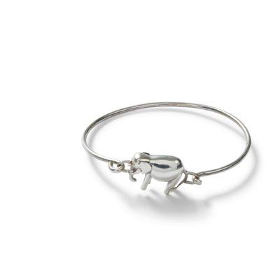 Silverarmband med elefant