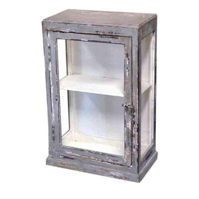 Enkelt och stilrent väggskåp i antikgrått B 45 D 22 H 83
