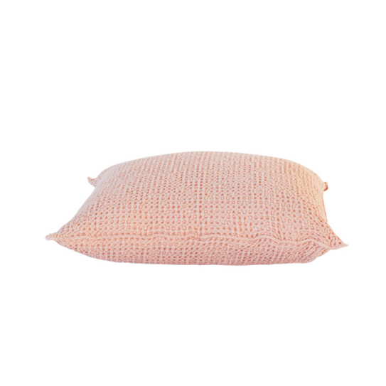 Fint kuddfodral i bomull med en stentvättad känsla i storleken 50*50
