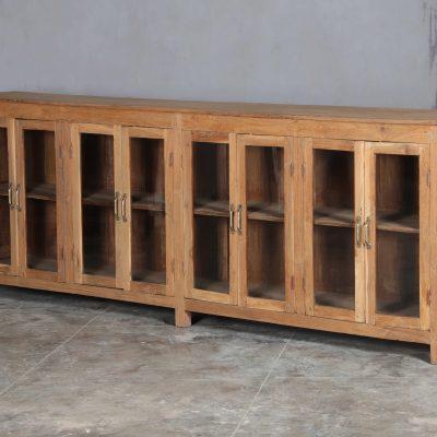 långt sideboard i vintage teak